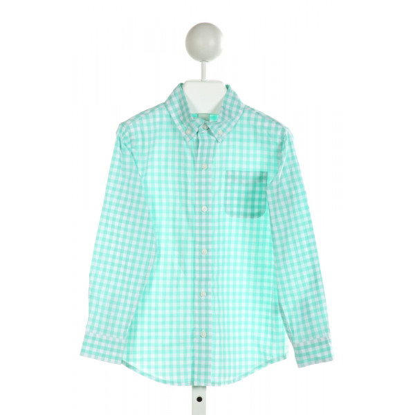 JANIE AND JACK  MINT  GINGHAM  CLOTH LS SHIRT