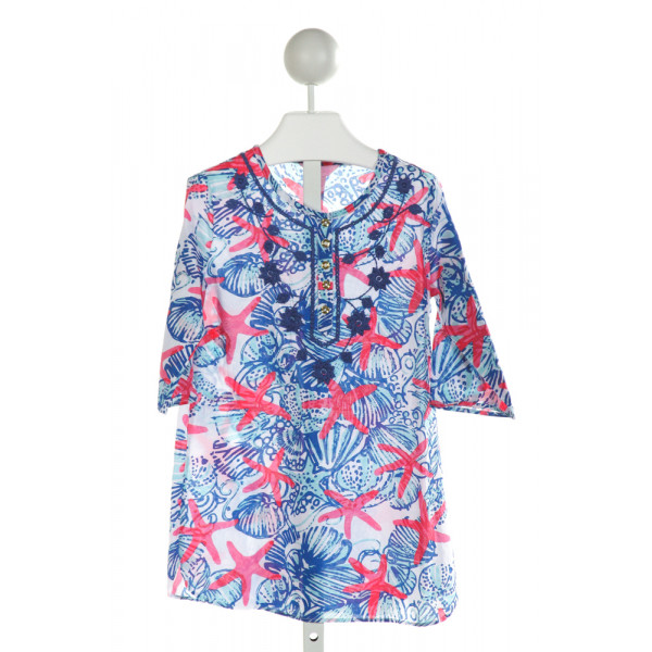 LILLY PULITZER  WHITE  PRINT EMBROIDERED COVER UP