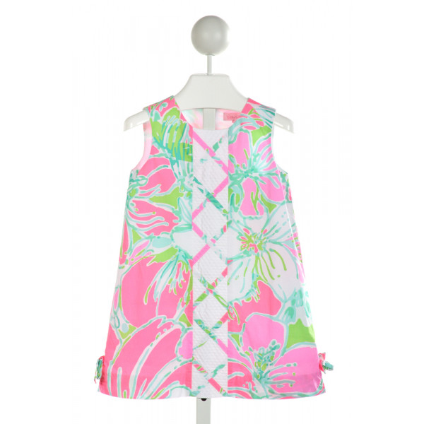LILLY PULITZER  WHITE  FLORAL EMBROIDERED DRESS
