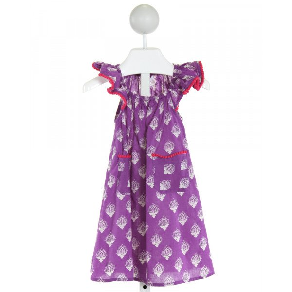 MASALA KIDS  PURPLE   PRINTED DESIGN DRESS