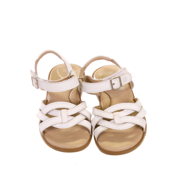 STRIDE RITE WHITE SANDALS *APPROX SIZE 7, EUC