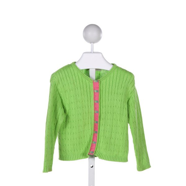 EMILY LACEY  LT GREEN   PRINTED DESIGN SWEATER
