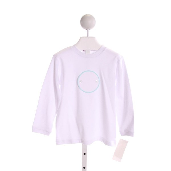 SHRIMP & GRITS  WHITE   APPLIQUED KNIT LS SHIRT