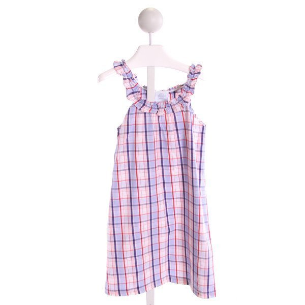 LITTLE ENGLISH  MULTI-COLOR  PLAID  DRESS WITH RUFFLE