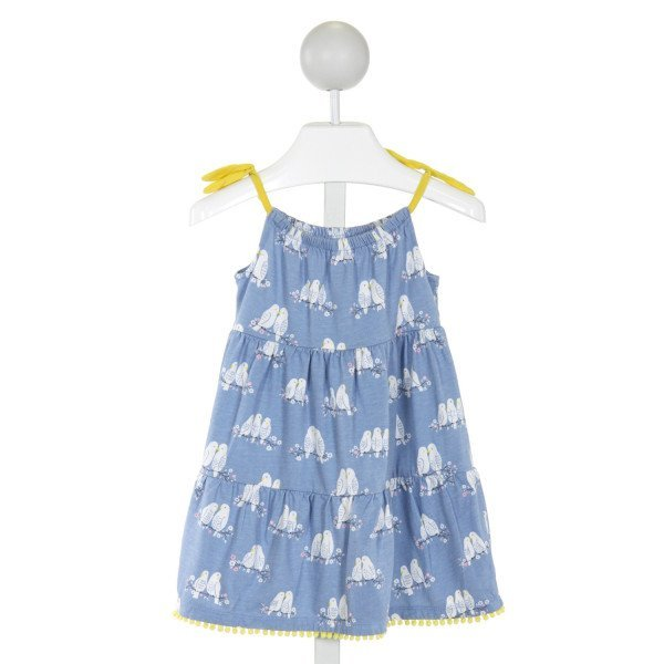 BABY BODEN  LT BLUE   PRINTED DESIGN KNIT DRESS