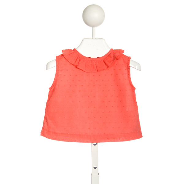 PRIM AND PROPER BETSY CORAL SLEEVELESS TOP