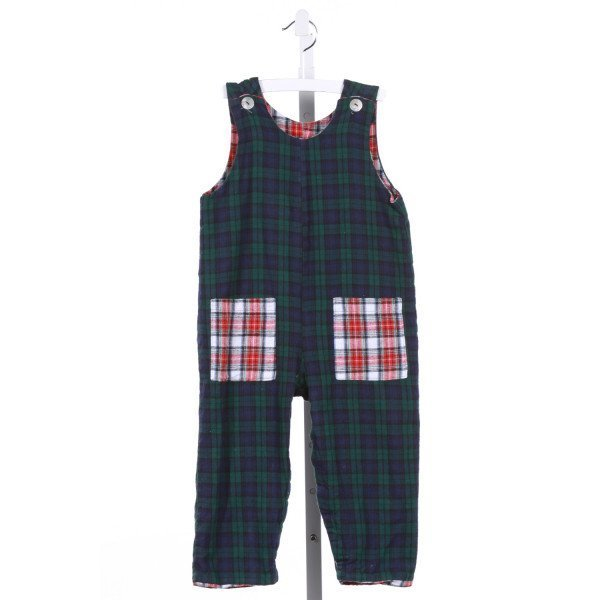 HOLLYWOOD BABY  GREEN FLANNEL PLAID  LONGALL/ROMPER