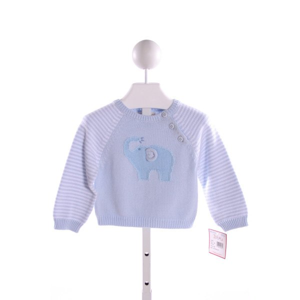 ZUBELS  LT BLUE   EMBROIDERED SWEATER