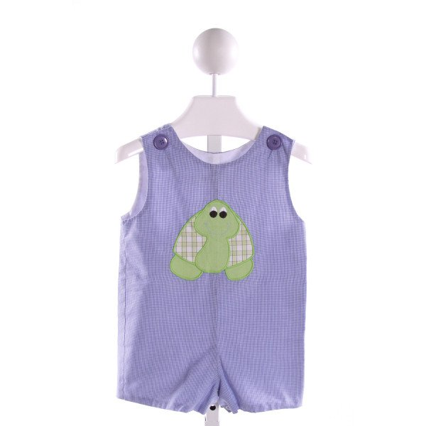 ZUCCINI  BLUE   EMBROIDERED JOHN JOHN/ SHORTALL
