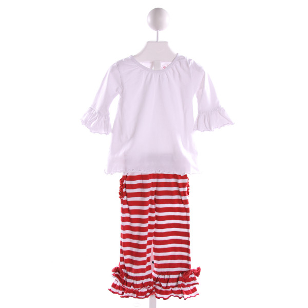 RUFFLE BUTTS  MULTI-COLOR  STRIPED  2-PIECE OUTFIT WITH RUFFLE