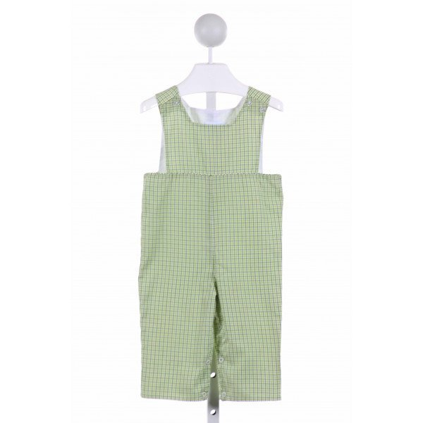LITTLE ENGLISH  LT GREEN  PLAID  LONGALL/ROMPER