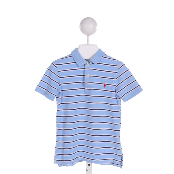 POLO BY RALPH LAUREN  LT BLUE  STRIPED  CLOTH SS SHIRT