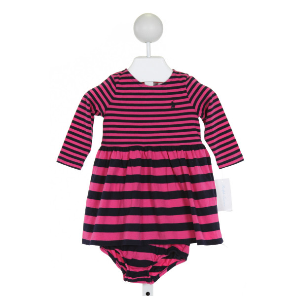 RALPH LAUREN  HOT PINK  STRIPED  2-PIECE OUTFIT