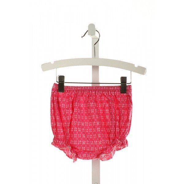 FRANCES ELIZABETH ORIGINALS  HOT PINK  FLORAL  BLOOMERS WITH RUFFLE