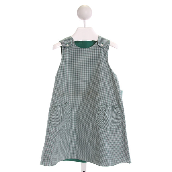 ROSALINA  GREEN  GINGHAM  DRESS