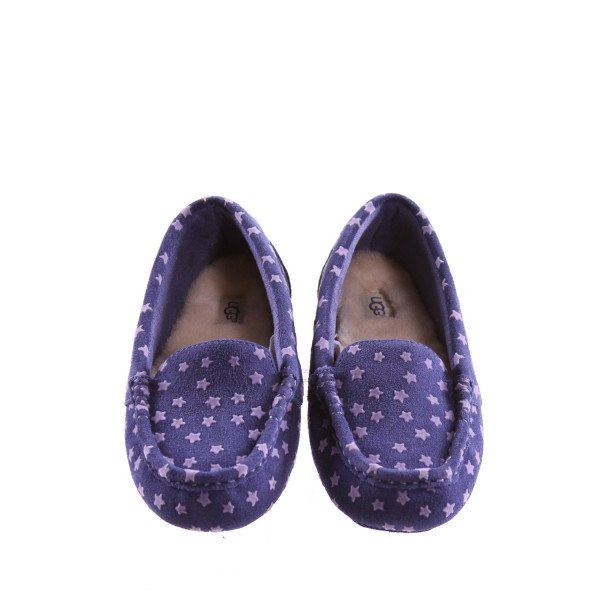 UGG NASIR STAR MOCCASINS WITH PURPLE STARS *SIZE 3, EUC