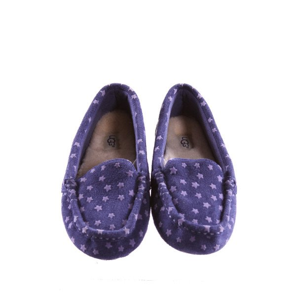 UGG NASIR STAR MOCCASINS WITH PURPLE STARS *SIZE 2, EUC