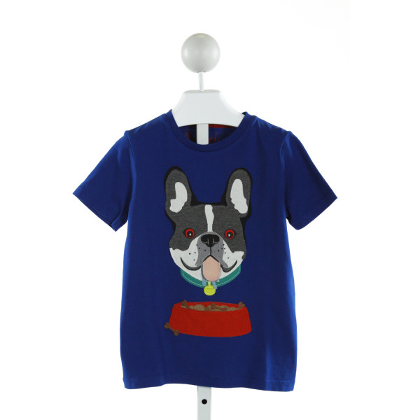 MINI BODEN  ROYAL BLUE   EMBROIDERED T-SHIRT