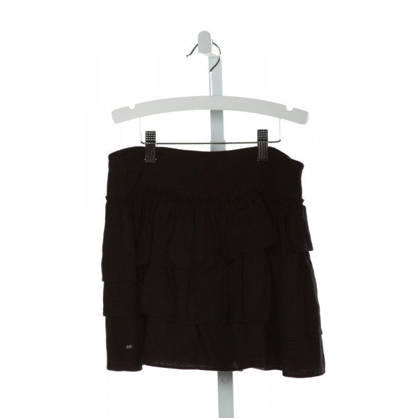 LILI GAUFRETTE  BLACK    SKIRT WITH RUFFLE