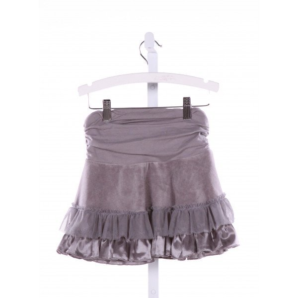 KATE MACK  GRAY    SKIRT WITH RUFFLE