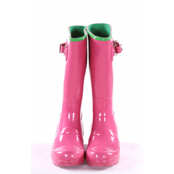 POLO RALPH LAUREN PINK RAIN BOOTS *SIZE 10, VGU - SOME SCUFFING AND DISCOLORATION