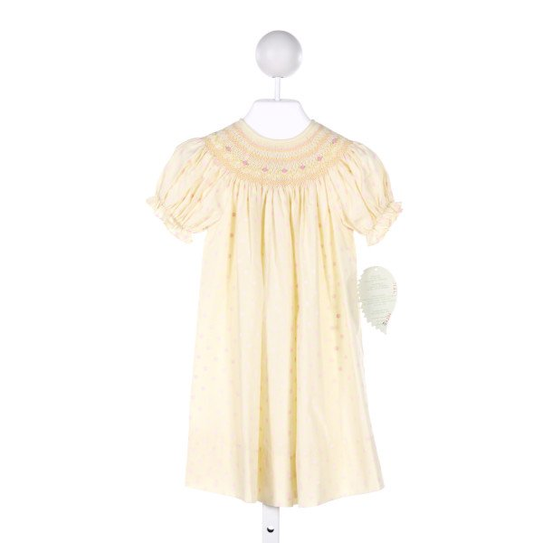 ROSALINA  MULTI-COLOR  POLKA DOT SMOCKED DRESS WITH RUFFLE