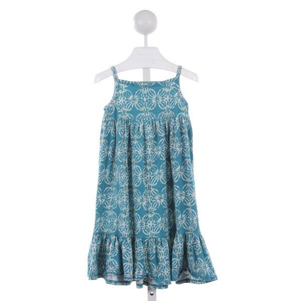 TEA BLUE PATTERN KNIT DRESS