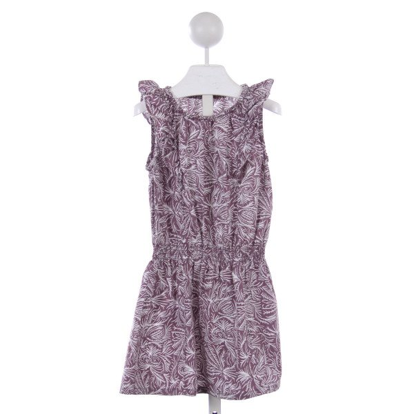 TEA PURPLE PATTERN DRESS
