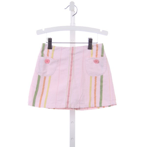 TALBOTS KIDS PINK SKORT WITH RIBBON TRIM