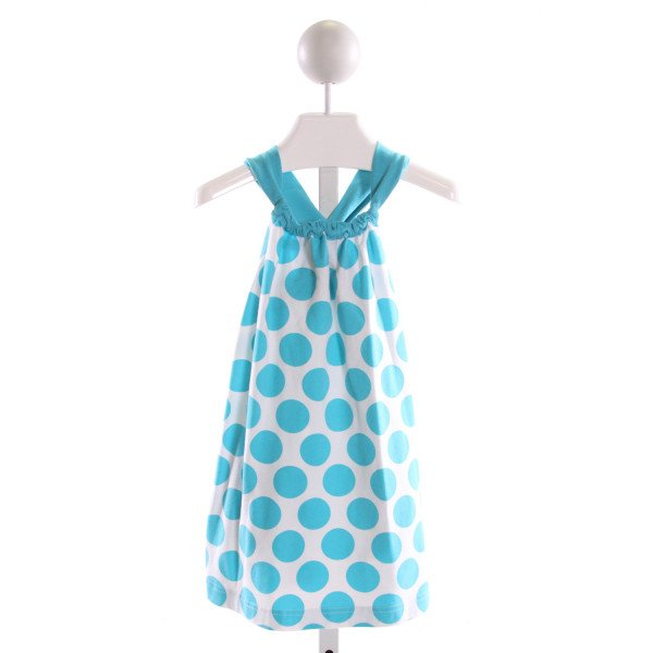 KELLY'S KIDS  LT BLUE  POLKA DOT  KNIT DRESS