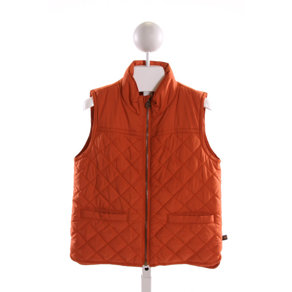 E-LAND  ORANGE    VEST WITH RIC RAC