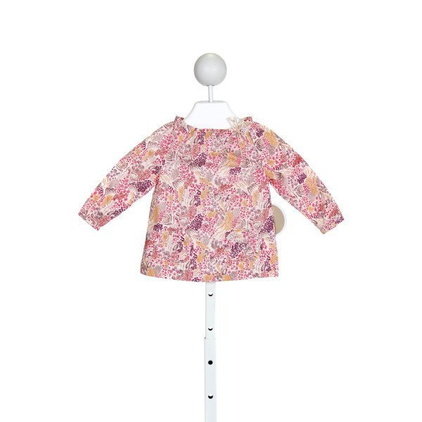 EGG BABY  PINK   PRINTED DESIGN CLOTH LS SHIRT WITH RUFFLE