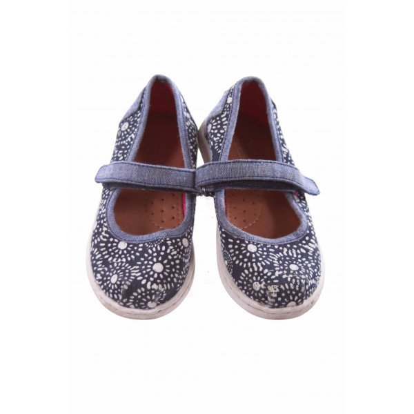 TOMS BLUE AND IVORY PATTERN SHOES TODDLER SIZE 8 *VGUC (LIGHT WEAR)
