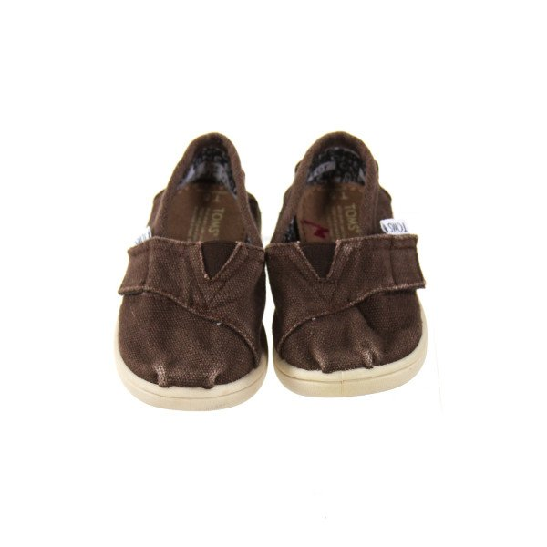 BROWN TOMS *SIZE TODDLER 5, VGU - VERY MINOR FADING AND SOME SCUFFING