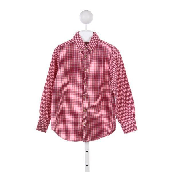 KELLYS KIDS RED GINGHAM BUTTON DOWN *(SIZE7/8)