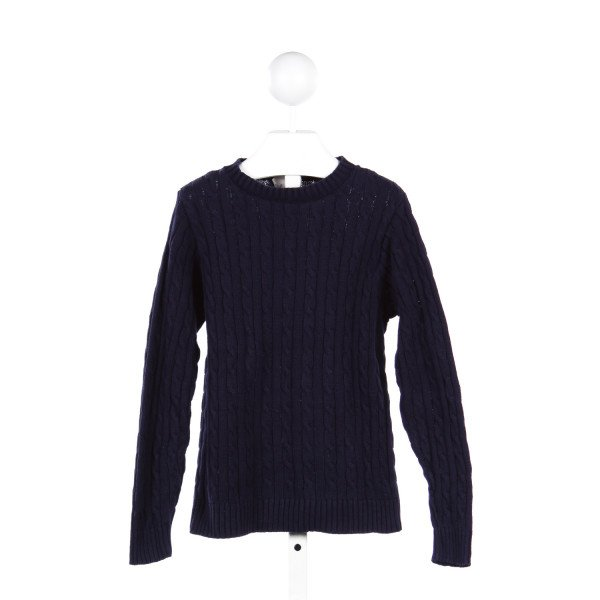 KELLY'S KIDS NAVY CABLE SWEATER