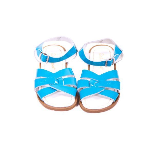 SUN-SANS TURQUOISE PATENT LEATHER SANDALS TODDLER SIZE 12