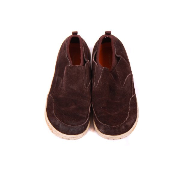 LANDS' END KIDS BROWN SUEDE SHOES CHILD SIZE 3 *VGUC (LIGHT WEAR)