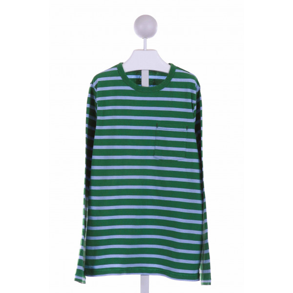 MINI BODEN  GREEN  STRIPED  KNIT LS SHIRT