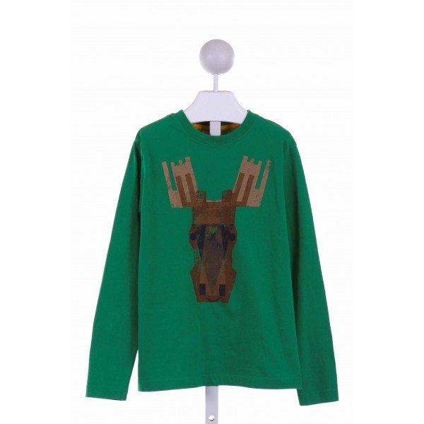 HANNA ANDERSSON  GREEN   PRINTED DESIGN KNIT LS SHIRT