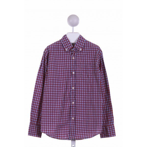 CREWCUTS FACTORY  BLUE  PLAID  DRESS SHIRT