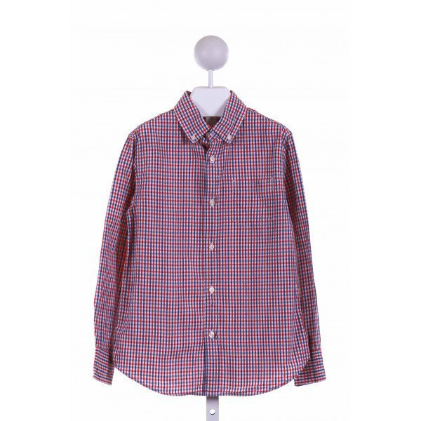 CREWCUTS FACTORY  RED  PLAID  DRESS SHIRT