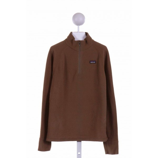 PATAGONIA  BROWN    QUARTER ZIP PULLOVER