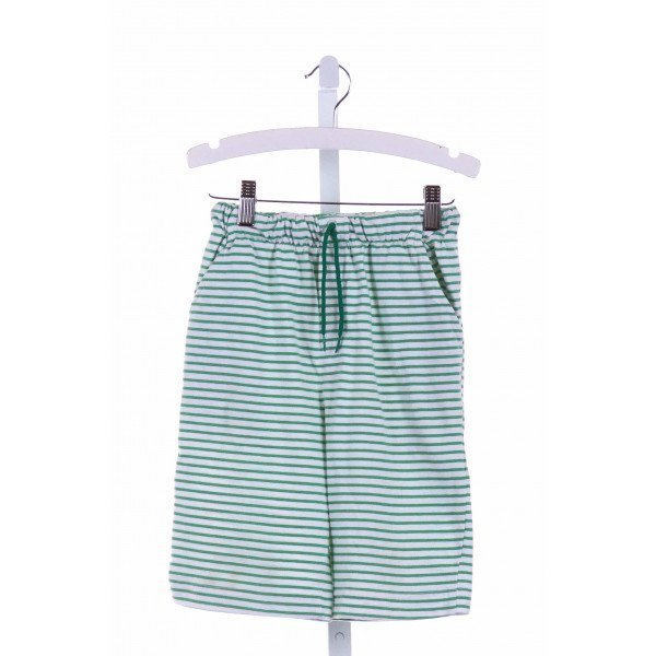 CHEZ AMI  GREEN KNIT STRIPED  SHORTS