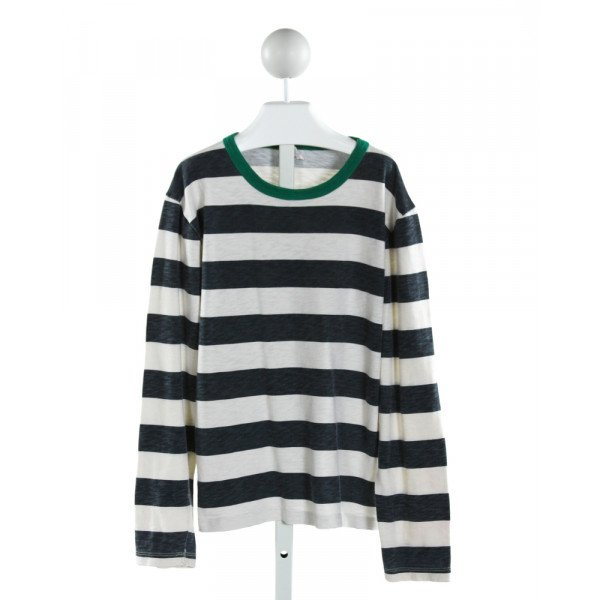 CREWCUTS FACTORY  IVORY  STRIPED  KNIT LS SHIRT