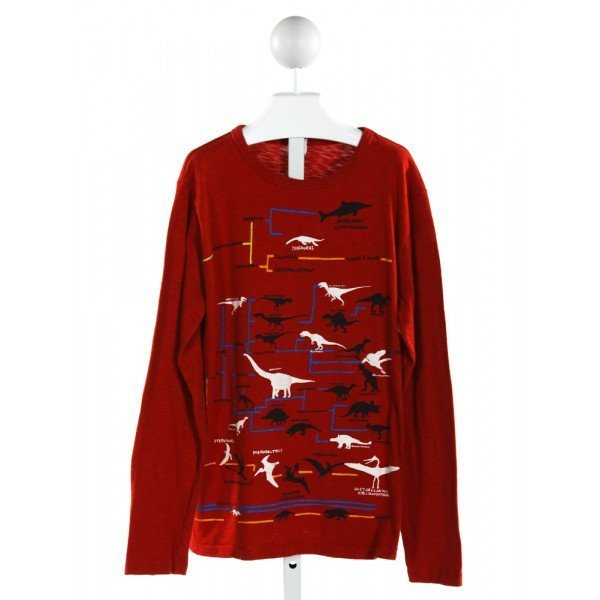 CREWCUTS FACTORY  RED   PRINTED DESIGN KNIT LS SHIRT
