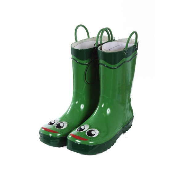 WESTERN CHIEF KIDS GREEN FROG RAIN BOOTS CHILD SIZE 3
