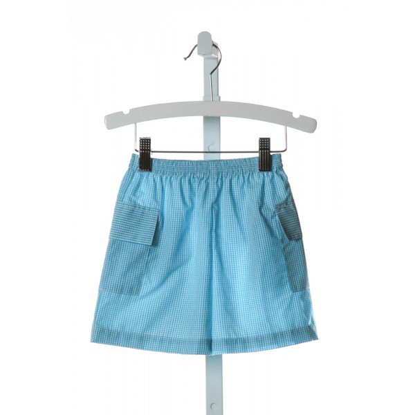 REMEMBER NGUYEN  BLUE  GINGHAM  SHORTS