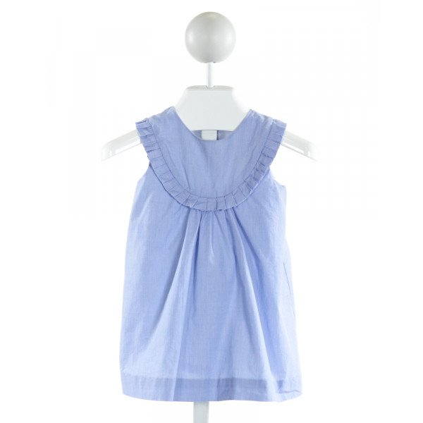 JACADI  LT BLUE    DRESS WITH RUFFLE