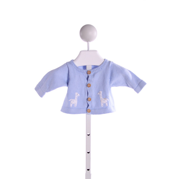 LITTLE ENGLISH  LT BLUE   EMBROIDERED CARDIGAN